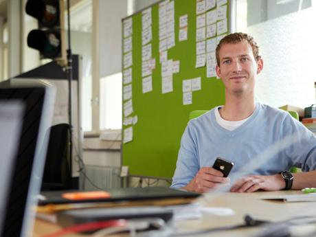 Der flinc-Gründer Michael Hübl im Inkubator