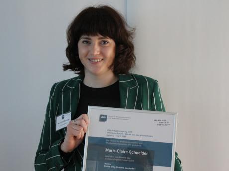 Marie-Claire Schneider gewinnt Marianne-Englert-Preis