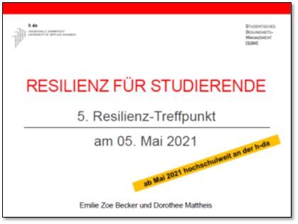 Resilienz-Treffpunkt an der h_da