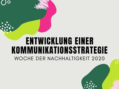 Gemeinsam informieren, vernetzen, handeln: Woche der Nachhaltigkeit 2020